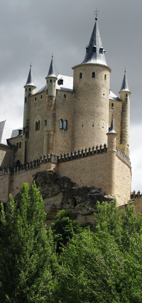 The primary castle of Segovia, Spain.